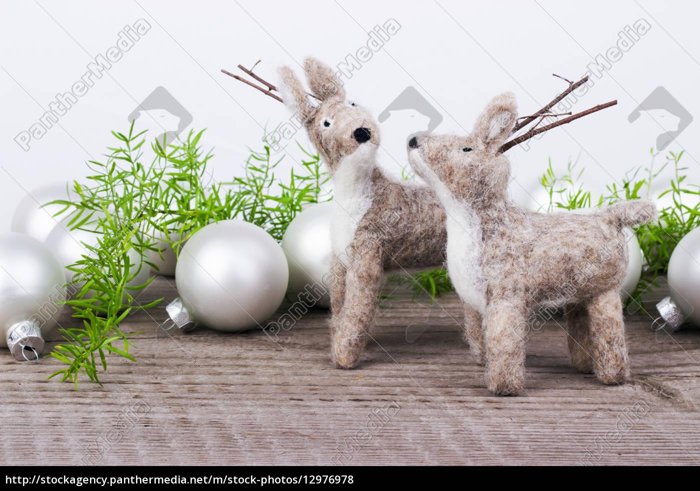 tiere, weihnachtszeit, kinderspielzeug, spielsachen, filz, christmas - 12976978