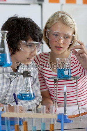 studenten der durchfuehrung experiment in der