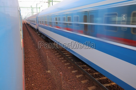 trains pass by