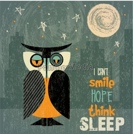 eule mit schlaflosigkeit