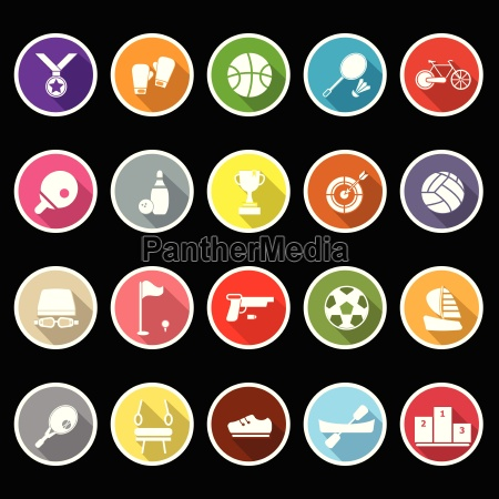 sport game athletic icons with long