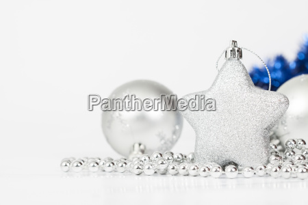 sparkling christmas background with silver christmas