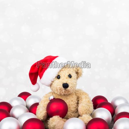 tiere, teddybär, weihnachtszeit, kinderspielzeug, spielsachen, christmas - 12985844