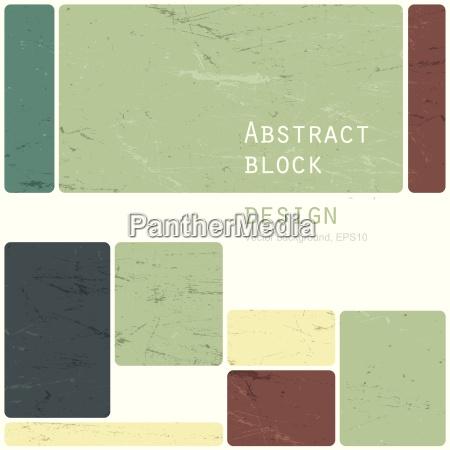 abstract retro blocks design background vector