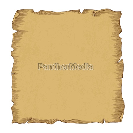 aged scroll paper illustration vector isolated