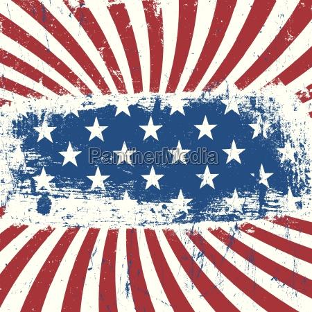 us amerikanische patriotische hintergrund jahrgang vektor