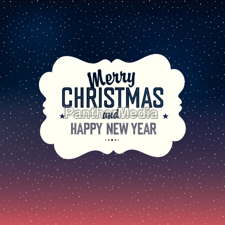 merry christmas card design with snow