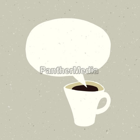 coffee cup bubble concept illustration vector