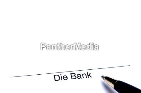 unterschrift der bank