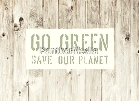 go green abstract poster oekologie