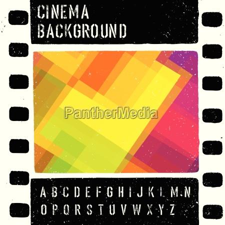 grunge colorful cinema design template vector
