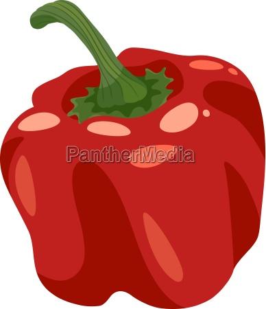 red pepper vegetable cartoon illustration