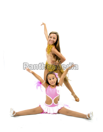 beautiful dancers with colorful dress posing