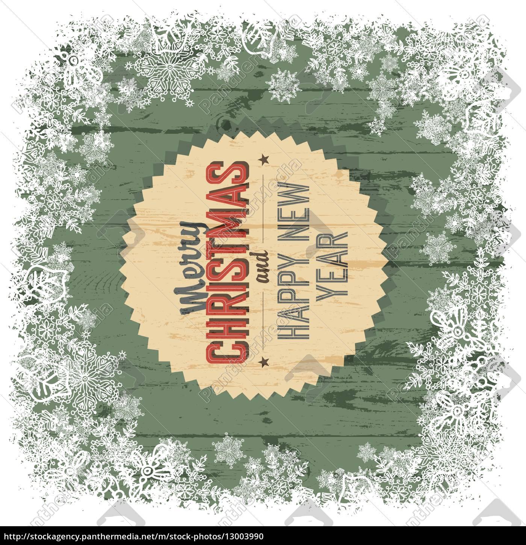 Frohe Weihnachten Grüße.Lizenzfreie Vektorgrafik 13003990 Frohe Weihnachten Gruß Auf Grünem Holz Hintergrund Vektor