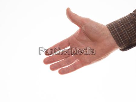 ausgestreckte hand