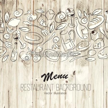 restaurant menue schablone vektor