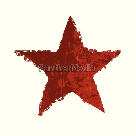 red grunge star vector