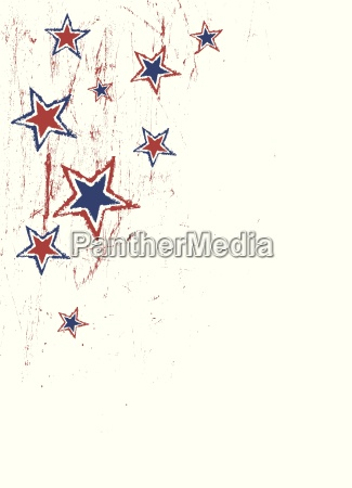 stars on scratched grunge texture vector