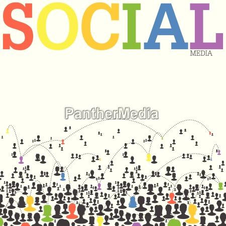 social media network konzept vektor