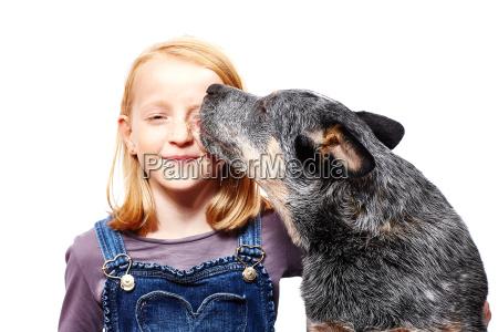 maedchen und hund