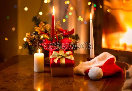 weihnachten foto von brennenden kerzen mit