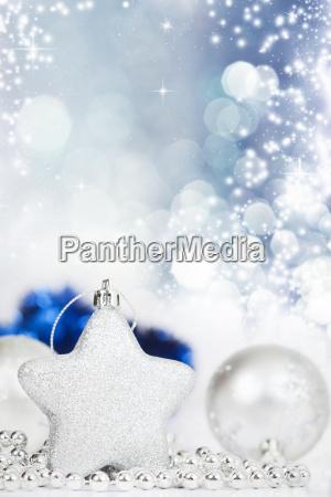 silver christmas decoration