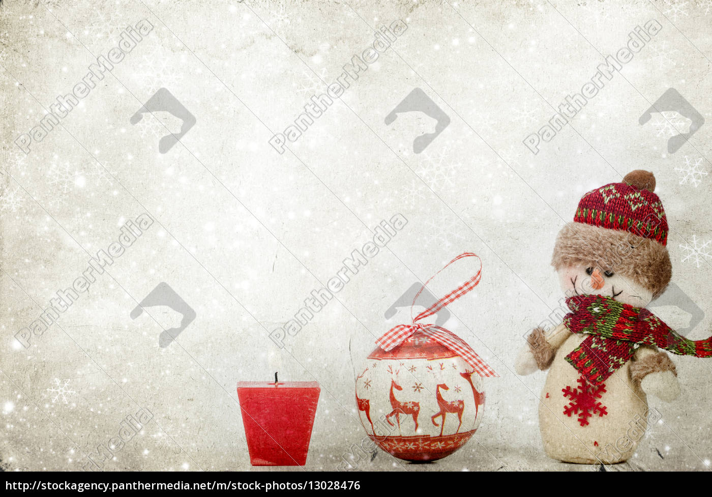 weihnachtsdekoration, mit, schneemann - 13028476