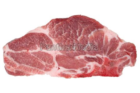 rohes schweinefleisch kotelett isoliert