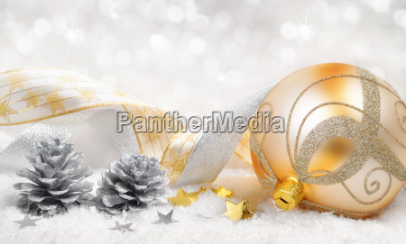 christmas spirit in gold and silver