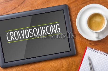 tablet desk crowdsourcing