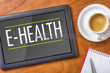 tablet on desk e health