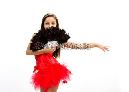 beautiful dancer with spanish red dress