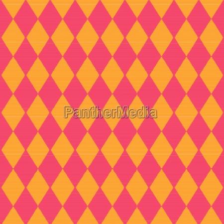 tuch mit roten und gelben rautenmuster