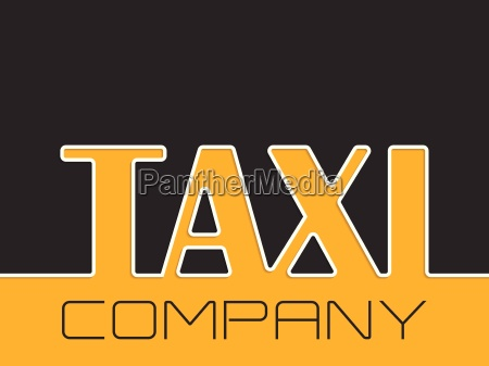 taxi company background with taxi text