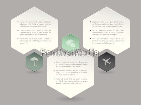 abstrakt hexagon infografik design