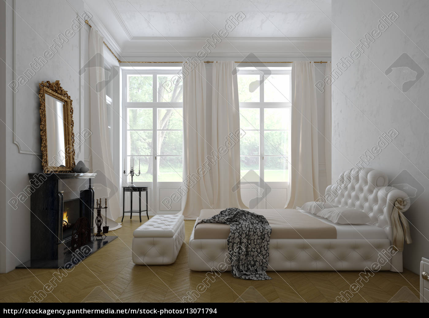 Moderne luxus schlafzimmer  modernen luxus-schlafzimmer interieur. 3d-rendering - Stock Photo ...