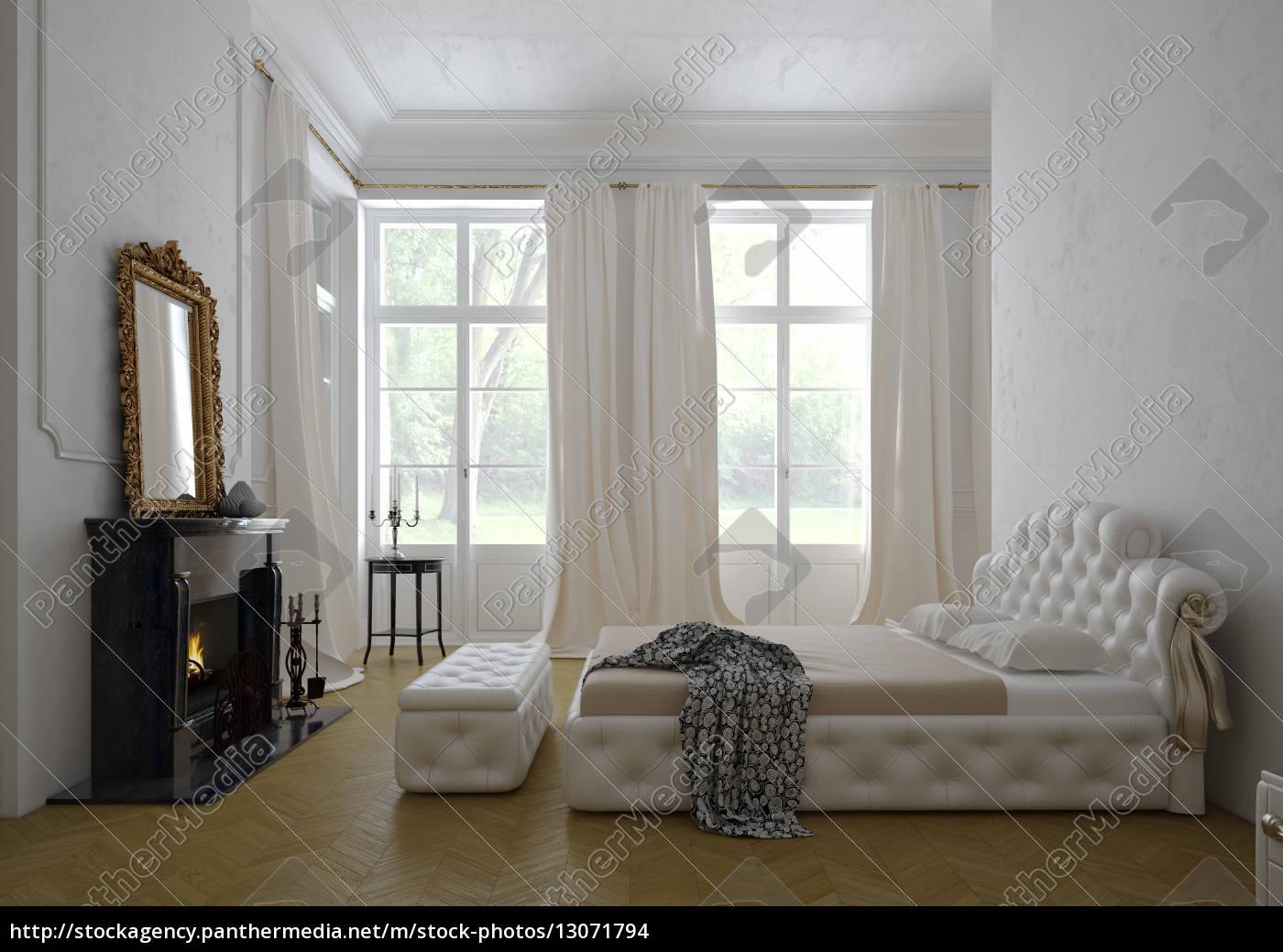 Moderne luxus schlafzimmer  modernen luxus-schlafzimmer interieur. 3d-rendering - Stock Photo ...