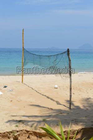 volleyball feld am strand