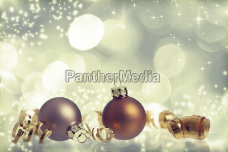 vintage christmas background with christmas balls