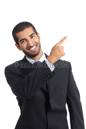 arab business man presenter presenting and