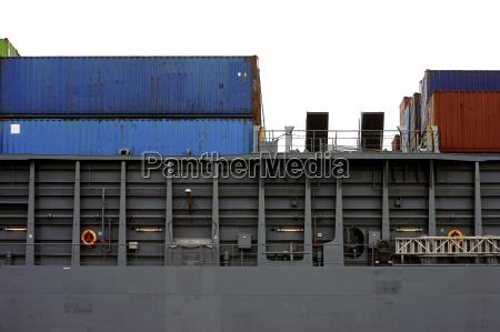 containerschiff seitenansicht