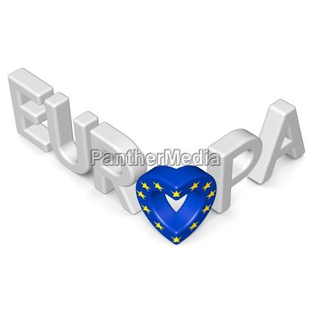 schriftzug europa bildet herz 2