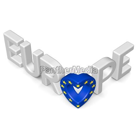 schriftzug europe bildet herz 2