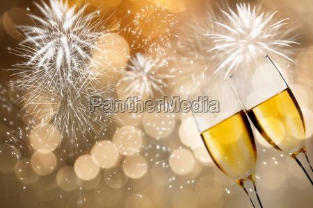 champagner brille gegen urlaubs licht