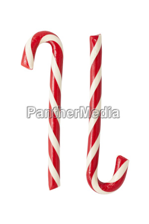 two candycanes isolated