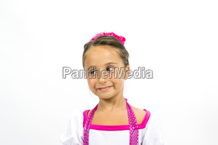 beautiful little girl smiling with colorful