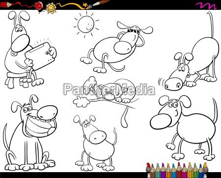hunde setzen cartoon malvorlagen