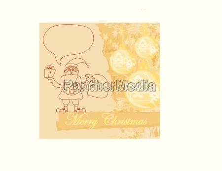 lustige weihnachtsmann abstrakte weihnachtskarte