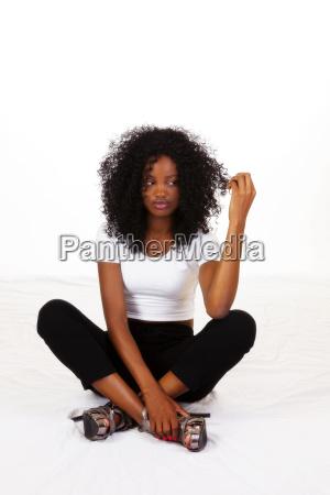 frau dame weiblich teen schwarze schwarz