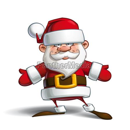 happy santa open hands